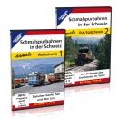 DVD - Paket: Schmalspurbahnen in der Schweiz - damals, Teil 1+2