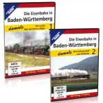 DVD-Paket - Die Eisenbahn in Baden-Württemberg damals - Teil 1 + 2
