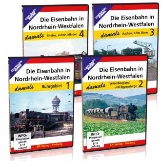 DVD - Paket: Die Eisenbahn in Nordrhein-Westfalen - damals