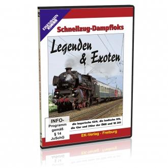DVD - Schnellzug-Dampfloks Legenden & Exoten