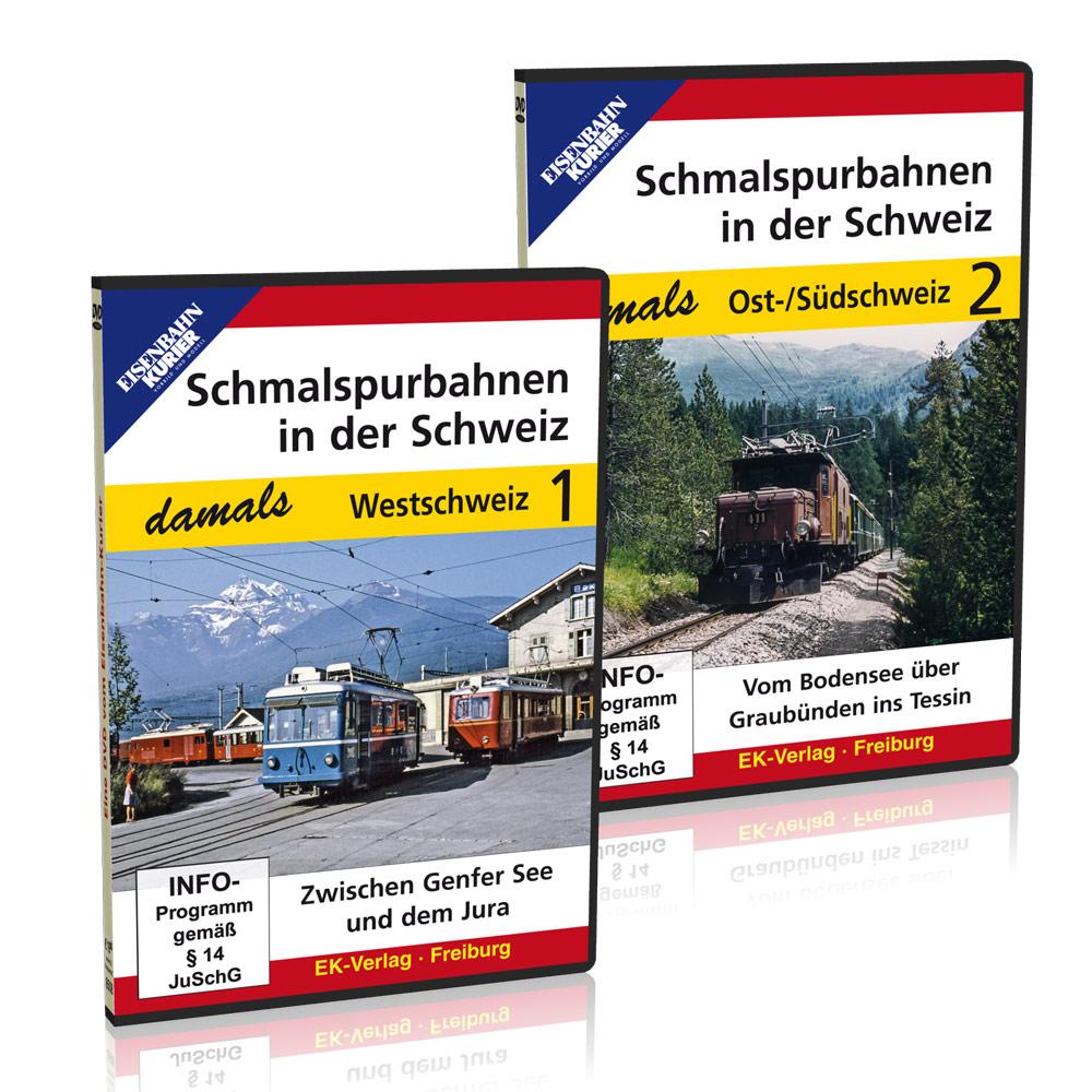ek shop dvd paket schmalspurbahnen in der schweiz damals teil 1 2 online kaufen. Black Bedroom Furniture Sets. Home Design Ideas
